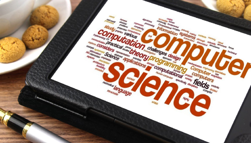 Computer Science terms displayed on a tablet