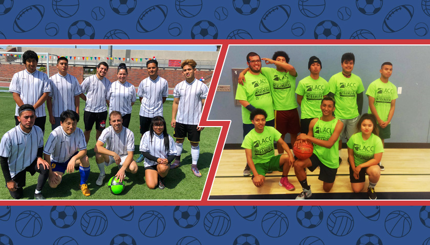LACC Intramural Soccer and Basketball teams