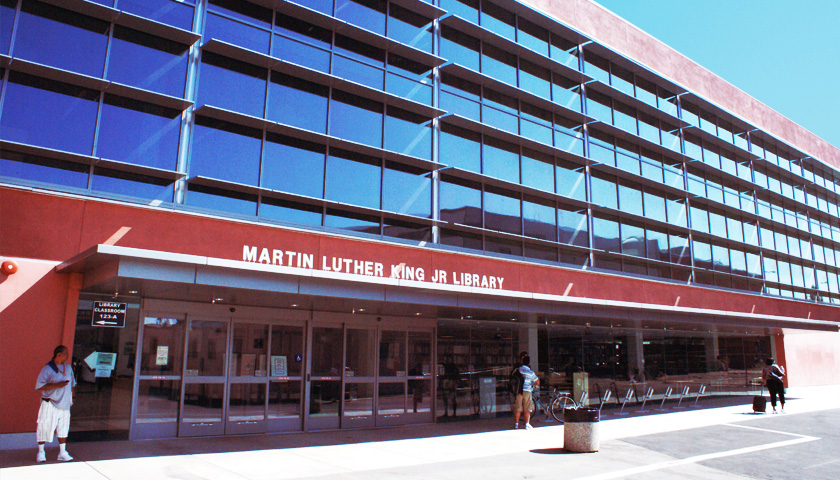 The Martin Luther King Jr Library at LACC