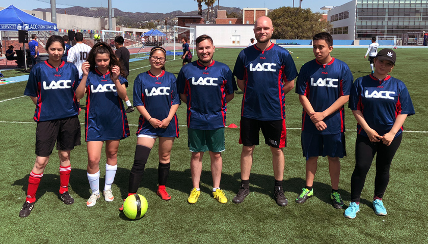 A soccer team composed of LACC Students