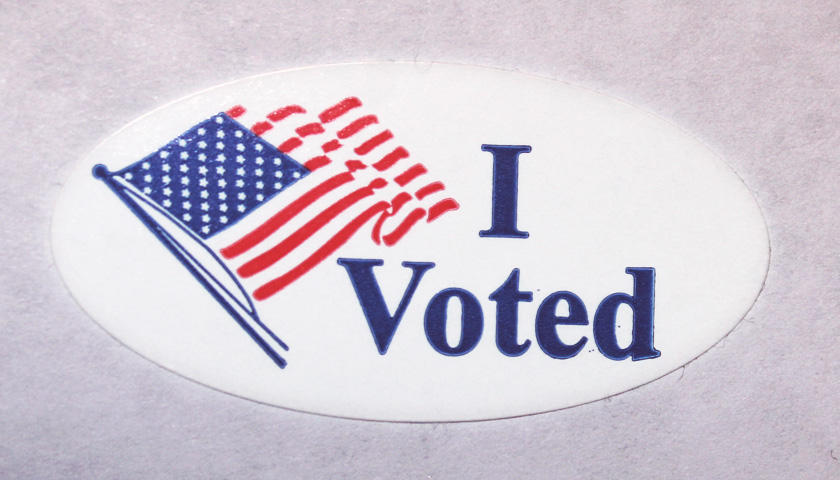 An 'I Voted' sticker