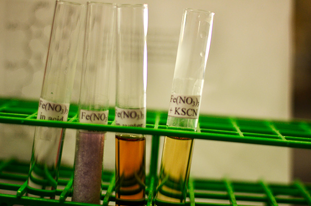 Chemical Solutions in Test Tubes