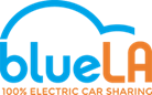 BlueLA logo - 100%25 Electric Car Sharing