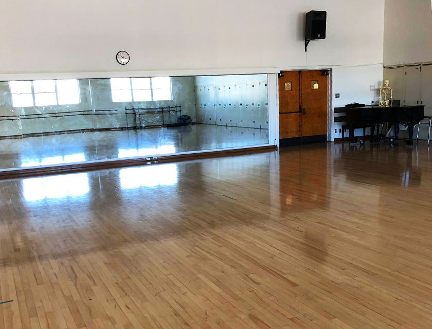 The Kinesiology South Dance Studio in room 202
