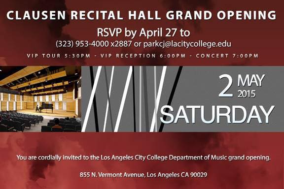 Clausen Recital Hall Grand Opening