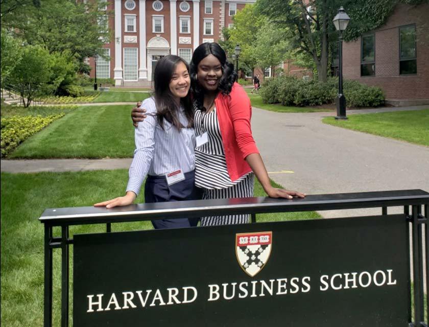 Mandie Dixon and Ashley Chen at Harvard Business School