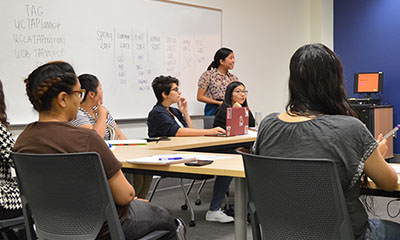 UC Berkeley Rep conducting workshop for LACC students