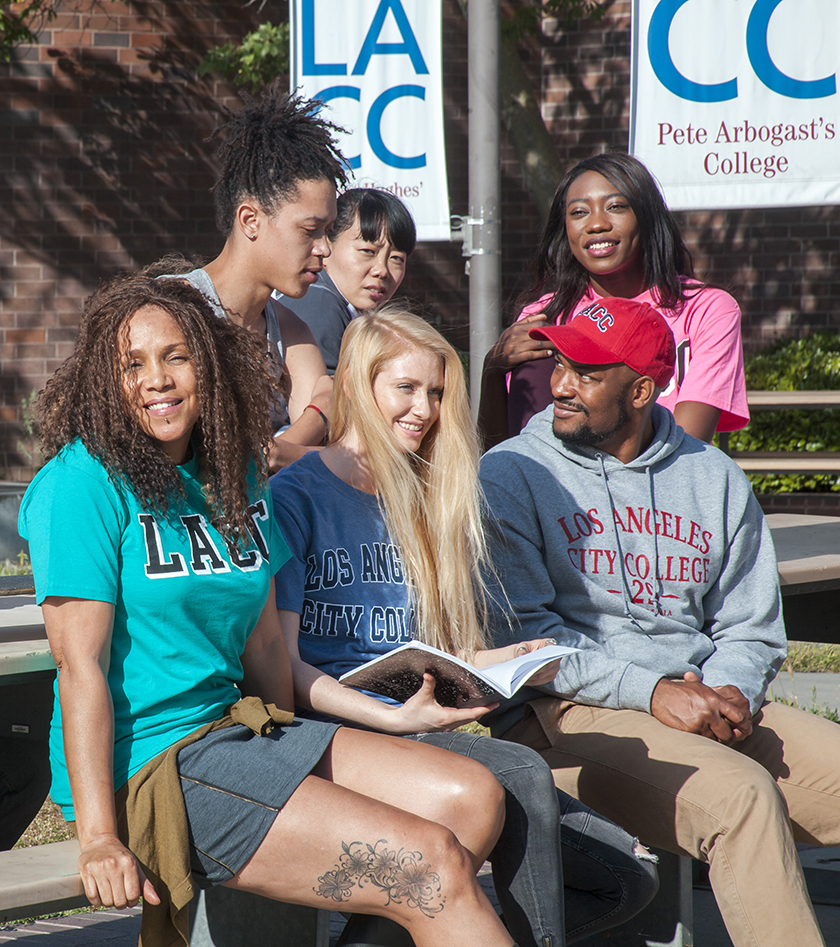 LACC Students enjoying themselves in the quad.